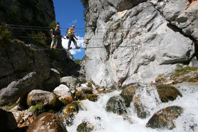 Hias-Klettersteig in der Silberkarklamm