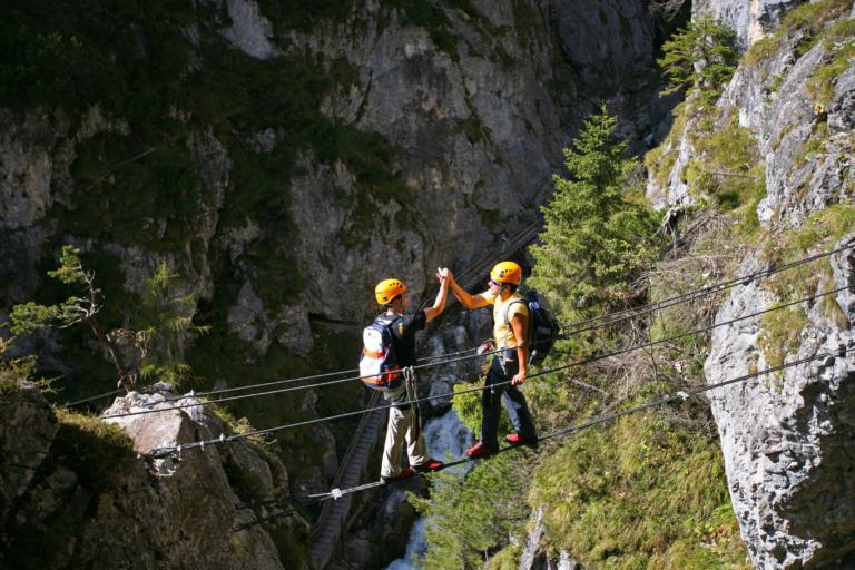 Hias Klettersteig in der Silberkarklamm