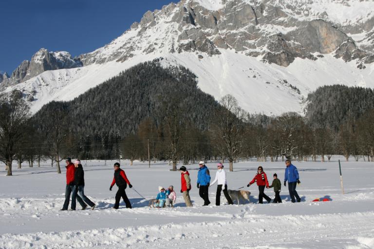 Winterwandern auf 50 km präparierten Wegen