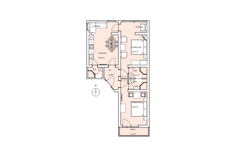 Apartment Timmelbauer Grundriss